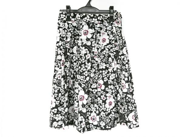バーバリーロンドン スカート サイズ42 XL レディース新品同様  黒×白×ピンク