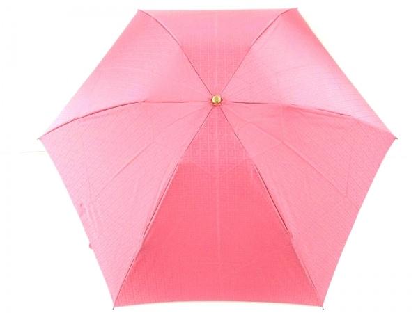 GIVENCHY(ジバンシー) 折りたたみ傘美品  ピンク 化学繊維