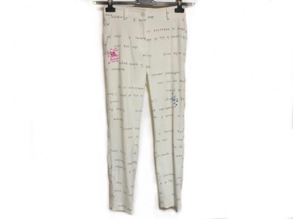 PICONE(ピッコーネ) パンツ サイズ38 S レディース 白×黒×マルチ 刺繍