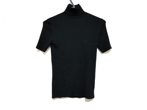 HARRODS(ハロッズ) 半袖セーター レディース美品  黒 タートルネック
