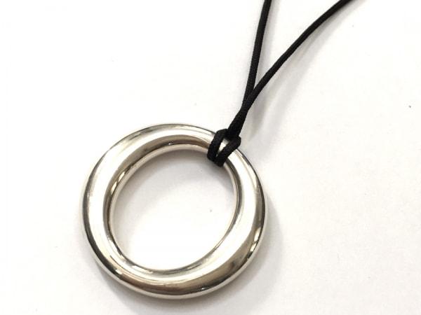 TIFFANY&Co.(ティファニー) ネックレス美品  セビアナ シルバー×化学繊維 黒