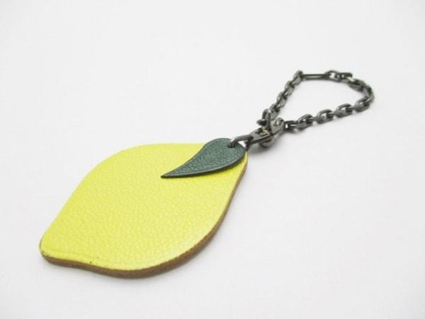 エルメス キーホルダー(チャーム) フルーツキーホルダー イエロー×グリーン レモン