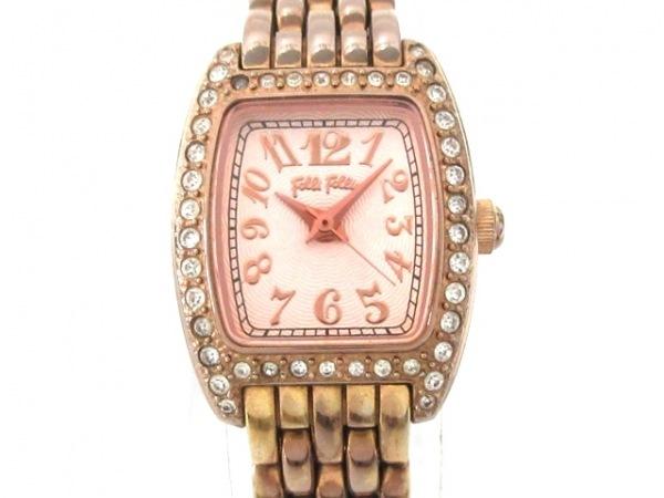 フォリフォリ 腕時計 WF5R142BP レディース ラインストーンベゼル ピンク