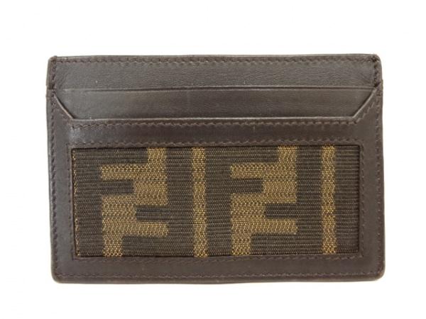 FENDI(フェンディ) カードケース ズッカ柄 7M0149 ダークブラウン×ライトブラウン