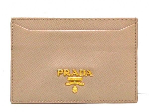 PRADA(プラダ) カードケース美品  - 1M0208 ベージュ サフィアーノレザー
