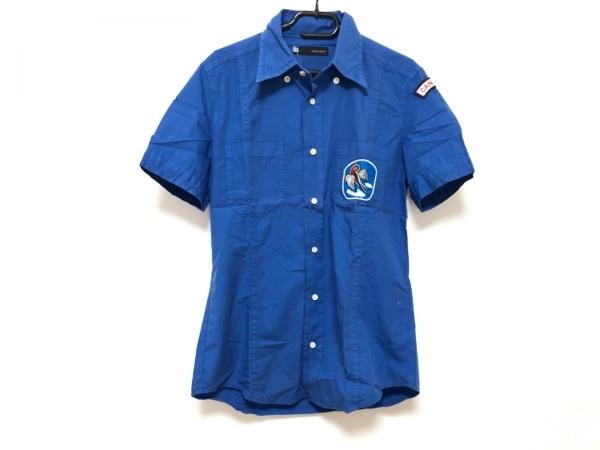 DSQUARED2(ディースクエアード) 半袖シャツ メンズ美品  ブルー