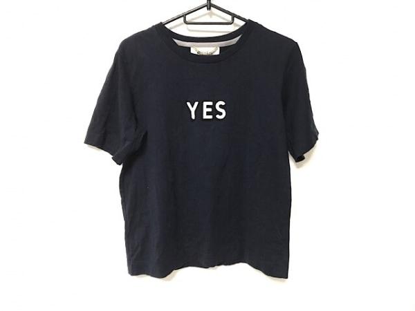 MUVEIL(ミュベール) 半袖Tシャツ サイズ38 M レディース美品  ネイビー スパンコール