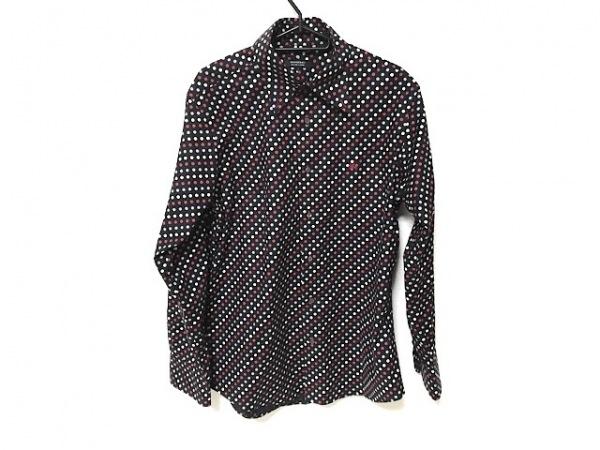 バーバリーブラックレーベル 長袖シャツ サイズ3 L メンズ美品  黒×レッド×マルチ