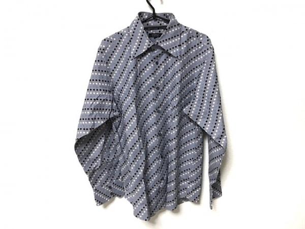バーバリーブラックレーベル 長袖シャツ サイズ3 L メンズ グレー×黒×マルチ