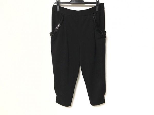 TO BE CHIC(トゥービーシック) パンツ サイズ44 L レディース 黒 スパンコール