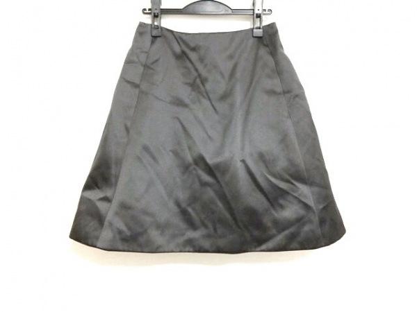 フォクシー スカート サイズ40 M レディース美品  ダークグレー シルク/パニエ内蔵