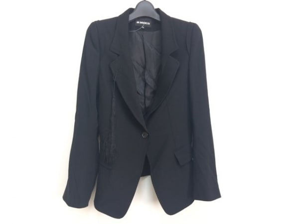 ANN DEMEULEMEESTER(アンドゥムルメステール) ジャケット サイズ36 S レディース 黒