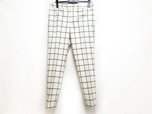 23区(ニジュウサンク) パンツ サイズ40 M レディース アイボリー×黒 チェック柄