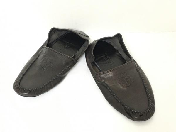 GIANNIVERSACE(ジャンニヴェルサーチ) 靴 レディース ダークブラウン レザー