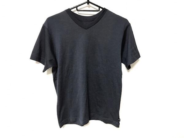 ノースフェイス 半袖Tシャツ サイズS メンズ美品  ダークグレー Vネック