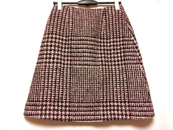 エルマノシェルビーノ スカート サイズ42 L レディース - - ピンク×黒×白