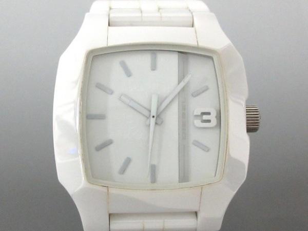 DIESEL(ディーゼル) 腕時計 - DZ-1421 メンズ 白