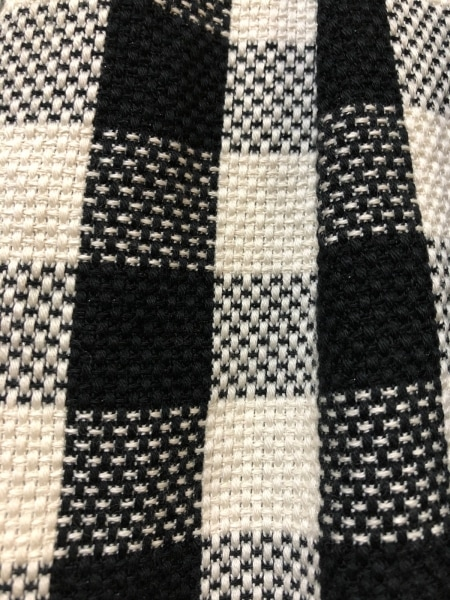 アニエスベー ワンピース サイズ36 S レディース 黒×アイボリー チェック柄/TO★b