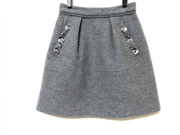 アプワイザーリッシェ スカート サイズ0 XS レディース グレー スパンコール