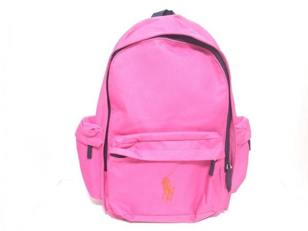 RalphLauren(ラルフローレン) リュックサック ビッグポニー ピンク×レッド 化学繊維