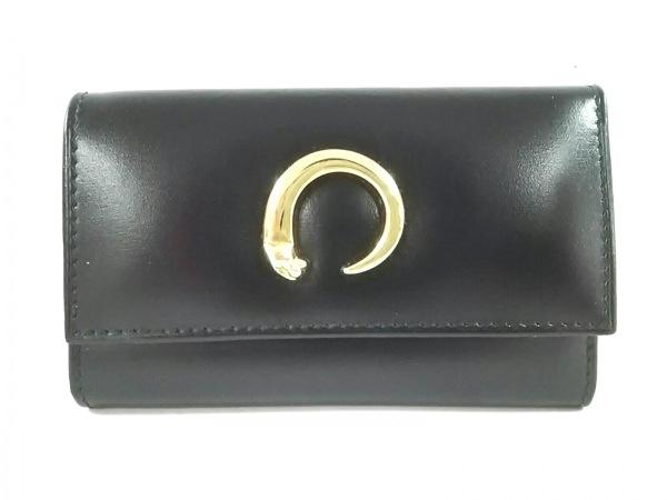 Cartier(カルティエ) キーケース新品同様  パンテール 黒×ゴールド 6連フック