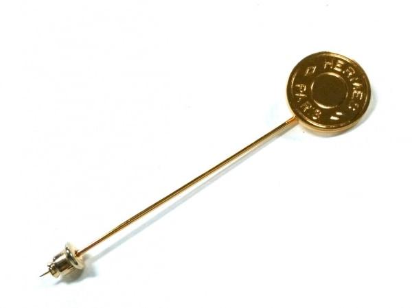 HERMES(エルメス) ブローチ美品  セリエ 金属素材 ゴールド