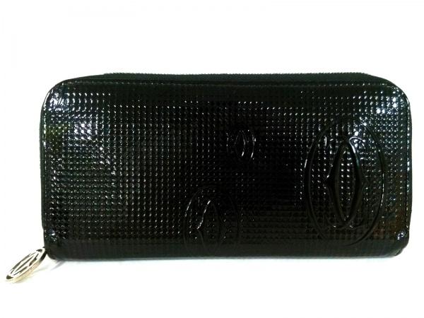 Cartier(カルティエ) 長財布美品  ハッピーバースデー 黒 ラウンドファスナー