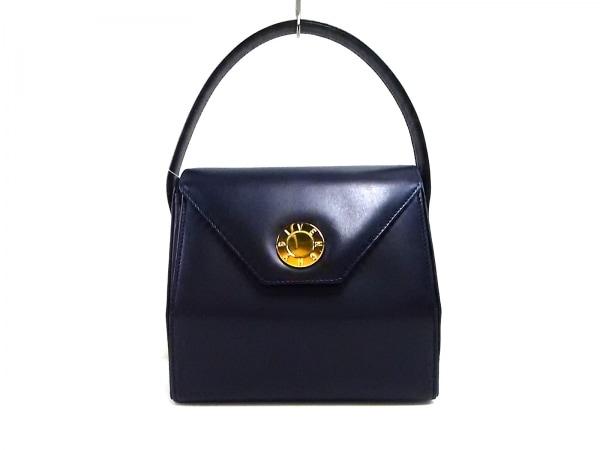 GIVENCHY(ジバンシー) ハンドバッグ美品  - ネイビー レザー