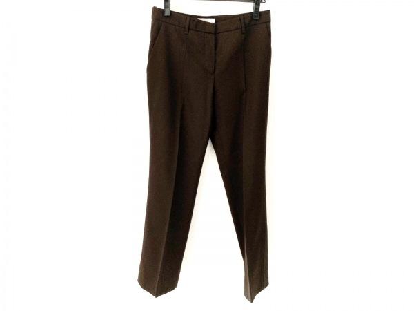 PRADA(プラダ) パンツ サイズ42 M レディース美品  ダークブラウン