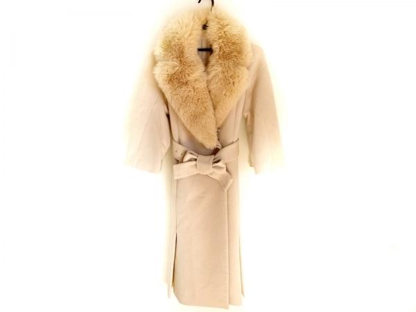 ノーベスパジオ コート サイズ38 M レディース美品  ベージュ ファー/冬物