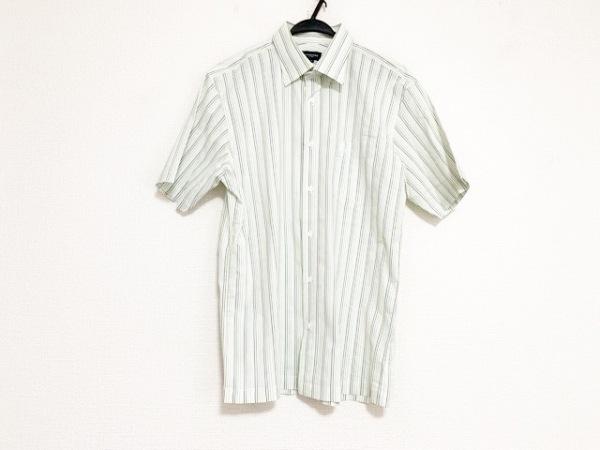 バーバリーゴルフ 半袖シャツ サイズLL メンズ美品  白×ダークグリーン×グリーン