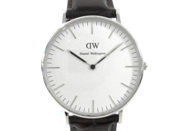 Daniel Wellington(ダニエルウェリントン) 腕時計美品  メンズ 革ベルト 白