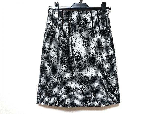 JUSGLITTY(ジャスグリッティー) スカート サイズ2 M レディース美品  白×黒 千鳥格子