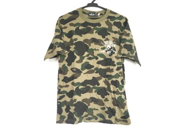 A BATHING APE(ア ベイシング エイプ) 半袖Tシャツ サイズS メンズ美品  迷彩柄