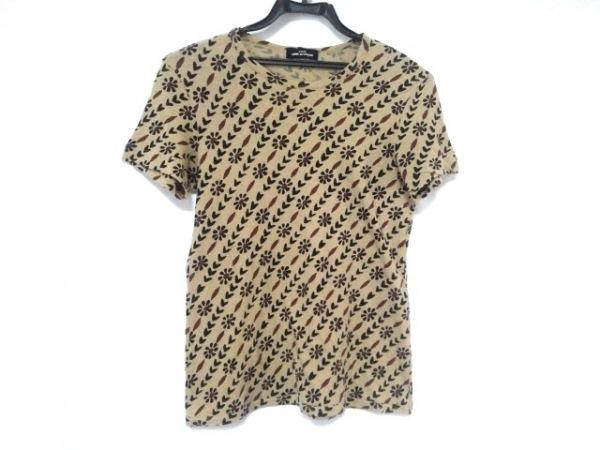 トリココムデギャルソン 半袖Tシャツ レディース ライトブラウン×黒×ボルドー