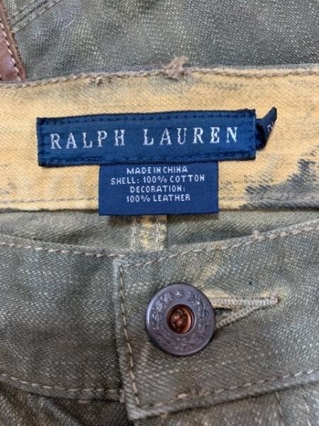ラルフローレン ジーンズ サイズ27 M レディース ダークグリーン×ブラウン