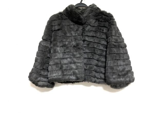 クードシャンス コート サイズ38 M レディース美品  ダークグレー
