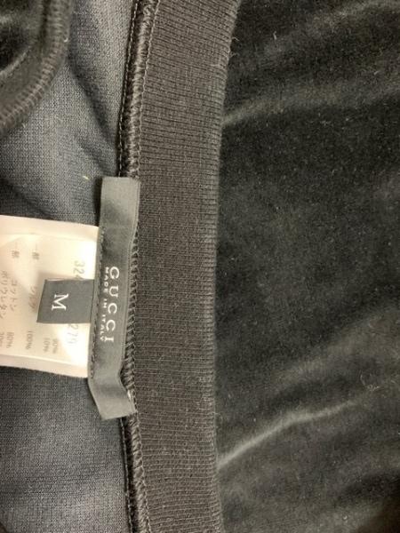 GUCCI(グッチ) ワンピース サイズM レディース - - 黒 半袖/ひざ丈/ダブルG