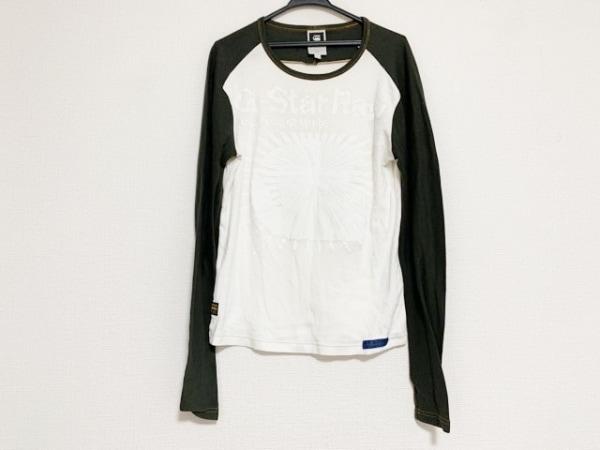 ジースターロゥ 長袖Tシャツ サイズL メンズ美品  - - アイボリー×グレー