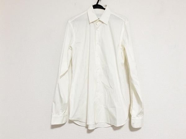 PRADA(プラダ) 長袖シャツ サイズ3915 1/2 メンズ美品  - - アイボリー