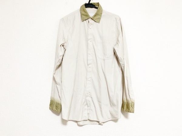 PRADA(プラダ) 長袖シャツ サイズ38/15 メンズ美品  - - ベージュ×カーキ