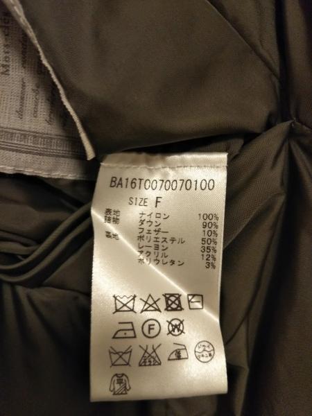BEARDSLEY(ビアズリー) ダウンジャケット サイズF レディース美品  グレー×カーキ