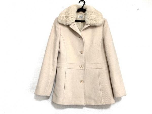 アリスバーリー コート サイズ9 M レディース美品  ベージュ 冬物/ファー取り外し可
