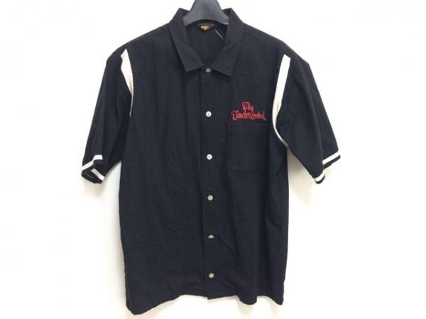 テンダーロイン 半袖シャツ サイズMEDIUM M メンズ 黒×レッド×アイボリー