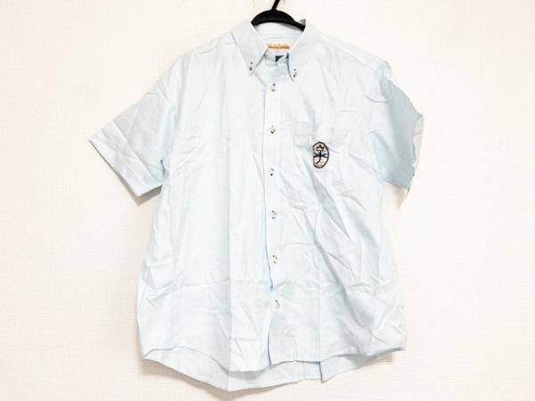 カステルバジャックスポーツ 半袖シャツ サイズ3 L メンズ美品  ライトブルー
