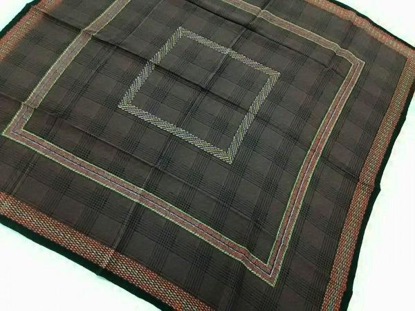 CHANEL(シャネル) スカーフ新品同様  ブラウン×パープル×マルチ チェック柄