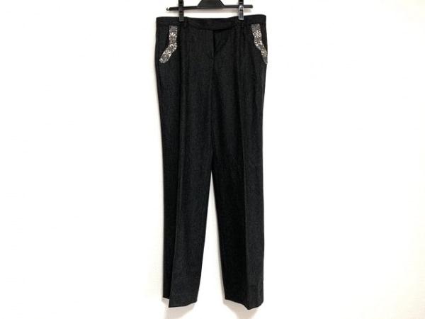 ブルマリン パンツ サイズ46 S メンズ ダークグレー×クリア×マルチ ビジュー