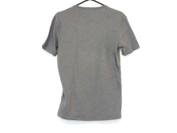 バーバリーブラックレーベル 半袖Tシャツ サイズ2 M メンズ グレー×ピンク