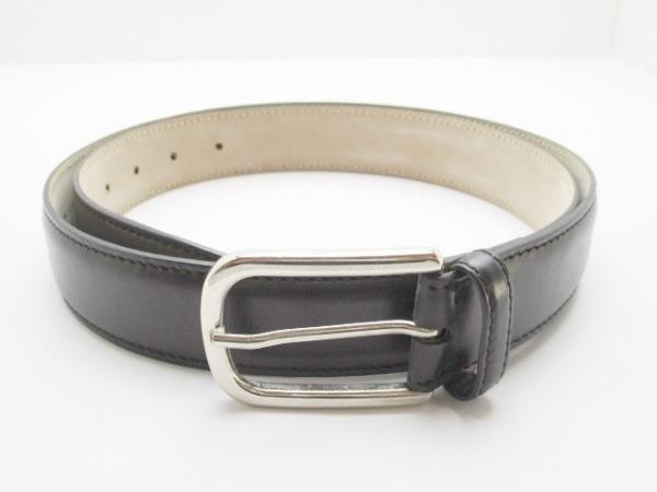 Brioni(ブリオーニ) ベルト美品  黒×シルバー レザー