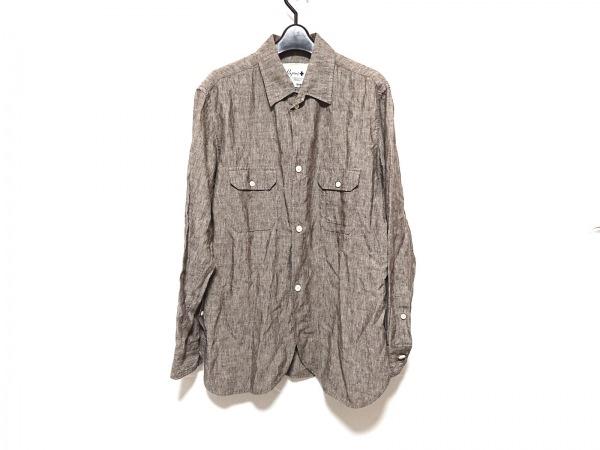 Papas(パパス) 長袖シャツ サイズL メンズ ダークブラウン